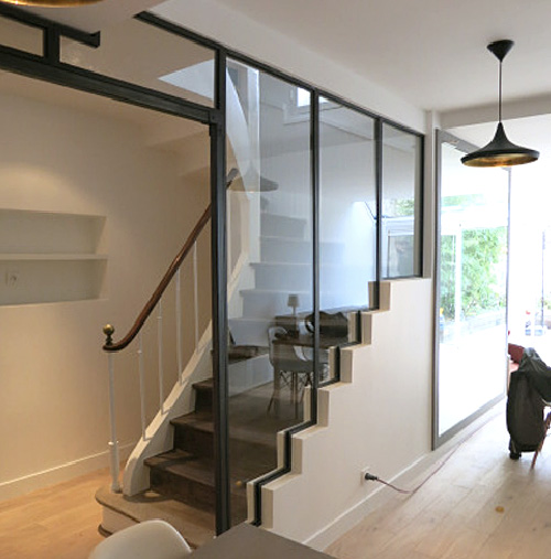 La verri re escalier steelinbox for Creer un escalier interieur