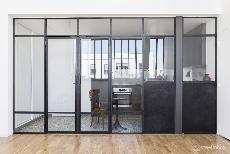 verri re de cuisine sur mesure steel in box. Black Bedroom Furniture Sets. Home Design Ideas