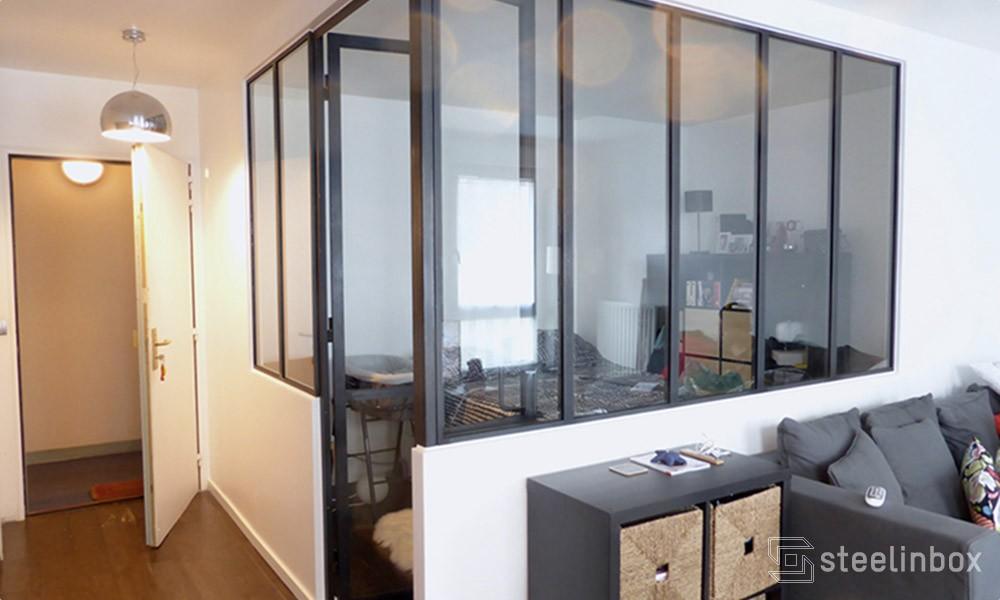 Verrière chambre, une pièce en plus | Steel in box