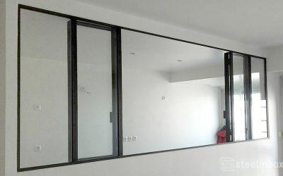 Fenêtre double ouvrant avec repli